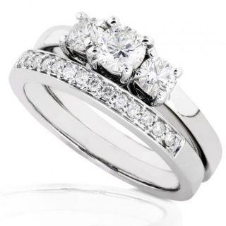 3/8ctw Three Stone Round Brilliant Diamond Wedding Ring