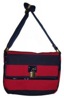 Womens Tommy Hilfiger Medium Messenger Tote Handbag (Red