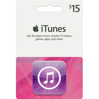 Apple iTunes Silhouette $15 Gift Card Gift Cards