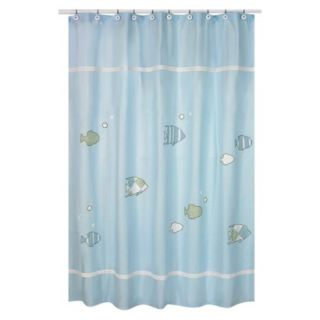 Sweet Jojo Designs Go Fish Shower Curtain product details page