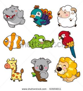 Cartoon Animal Stock Vector 63959011 : Shutterstock