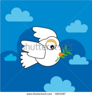 Peace Dove Flying, Cartoon (Vector)   5853397  Shutterstock
