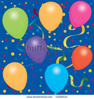 stock vector  Happy Birthday background / wallpaper with bright color