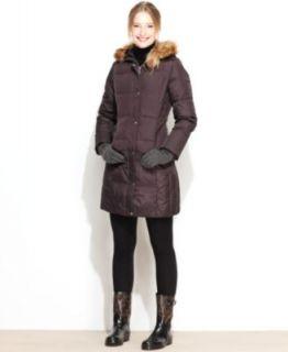 MICHAEL Michael Kors Coat, Hooded Faux Fur Trim Puffer