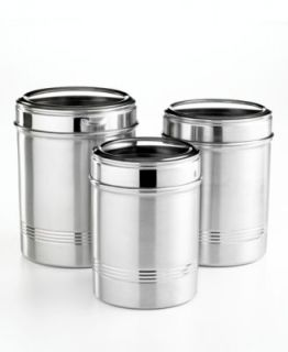 canister storing treats and small items large kitchen amp dining martha stewart collection canisters set of 3 whiteware