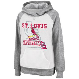 St. Louis Cardinals White Womens All Hooked Up Hooded Fleece