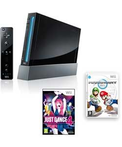 Buy Nintendo Wii Console Bundle with 2 Games incl. Just Dance 4 at