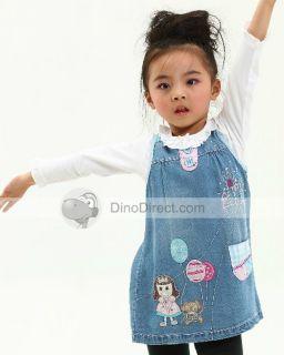 Wholesale Suno Lovely Cartoon Pattern Girls Vest Dresses