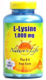 Natures Life L Lysine    1000 mg   100 Tablets   Vitacost
