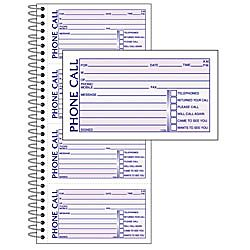 Office Depot® Brand Phone Message Book, 11 x 5 1/2, Canary/White