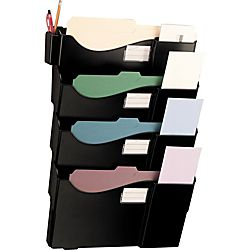 Office Depot Brand Wall 4 Pockets Letter SizeLegal Size Black by