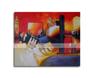 Wholesale Handmade Musical Instrument Abstract Painting   DinoDirect
