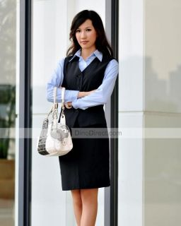 Wholesale Sleeveless Vest Shirt Dress Women Business Suit 3Pcs