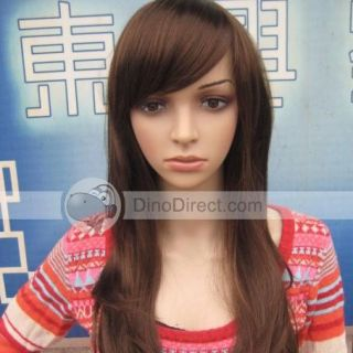 Wholesale Women Fluffy Side Bangs Long Curly Hair Wig