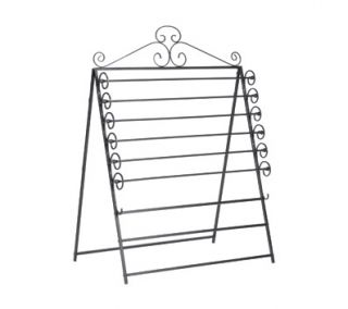 SEI Easel/Wall Mount Craft Storage Rack, Black
