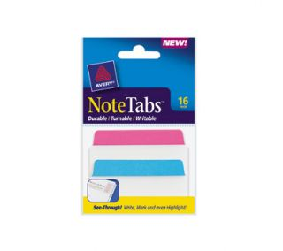 Avery NoteTabs and Flags in One, 3 x 1 1/2, Traditional Tab