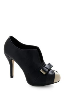 Bow Your Strengths Heel   Black, White, Bows, Formal, Party, Casual