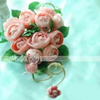 Wholesale Walesbridal Camellia Silk Flowers Bridal Wedding Bouquets