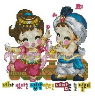 Wholesale Cartoon Baby Counted Cross Stitch Kit