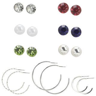 Womens   Minicci   Womens (9 pk) Stud and Hoop Earring Set   Payless