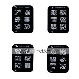 USD $ 1.39   Nail Art Stamp Stamping Image Template Plate B Series