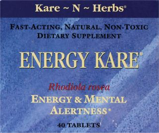 Kare N Herbs Energy Kare 40 Tabs   Swanson Health Products
