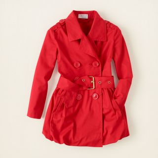 girl   outerwear   bubble hem trench coat  Childrens Clothing  Kids