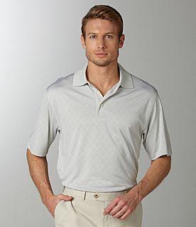 Roundtree & Yorke Big & Tall Performance Argyle Polo Shirt  Dillards