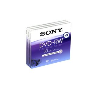 Buy SONY DVD RW 8cm Camcorder DVDs   3 Pack  Free Delivery  Currys