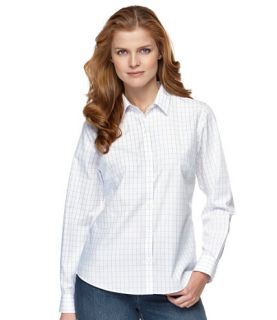 Wrinkle Resistant Cotton Poplin Shirt, Check Casual