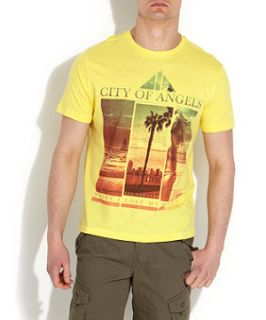 Soft Yellow (Yellow) Yellow City of Angels Printed T Shirt