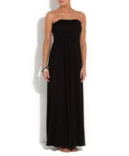 Black (Black) Black Shirred Bandeau Maxi Dress  256240901  New Look