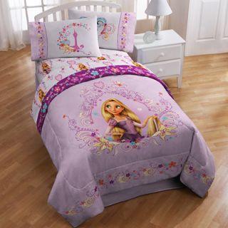 Disney Tangled Rapunzel 4 Piece Girls Bedding Set   Twin  Meijer