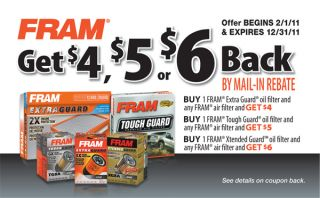 Fram Oil Filters, Air Filters, Fuel Filters