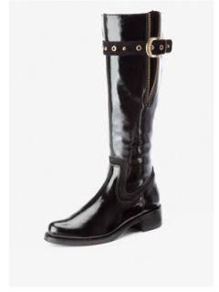 Clarks Karaoke Tune Buckle Knee High Leather Boots Very.co.uk