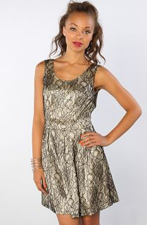 Motel The Vintage Girl French Lace Dress in Cream Black  Karmaloop