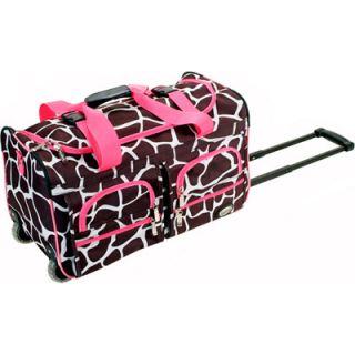 Rockland 22 Inch Rolling Duffle Bag   Pink Giraffe  Meijer