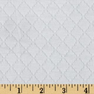 Designer Quilted Jersey Knit White   Discount Designer Fabric
