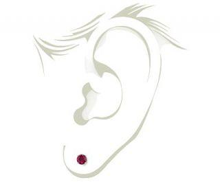 Ruby Stud Earrings in 18k White Gold (5mm)  Blue Nile