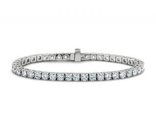 Diamond Tennis Bracelet in 18k White Gold (7 ct. tw.)  Blue Nile