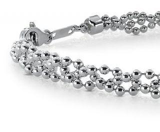 Garland Bead Bracelet in Platinum  Blue Nile