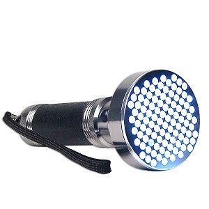 100 LED Aluminum Alloy Flashlight (Silver/Black) 100LED FLASHLIGHT