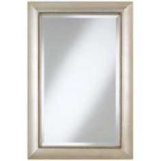 Jocelyn Silver Beading 36 High Rectangular Wall Mirror