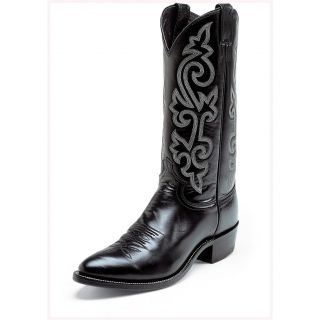 Justin 13 London Calf Boots, Black   261491, Western Boots at