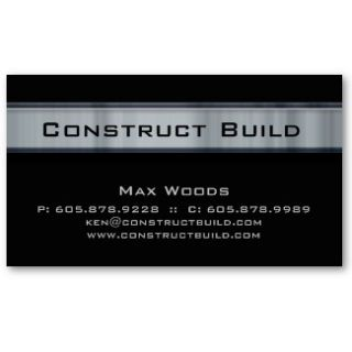 Construction Contractor Business Card Pebbles  Zazzle.co.uk