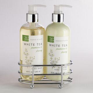 White Tea Jasmine & Ylang Liquid Hand Soap & Lotion Caddy  World