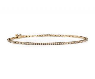 Mini Diamond Tennis Bracelet in 14k Yellow Gold (5/8 ct. tw.)  Blue