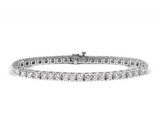 Diamond Tennis Bracelet in 18k White Gold (8 ct. tw.)  Blue Nile