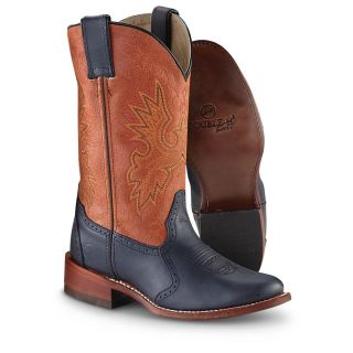 Womens Double   H Western Boots, Rust / Blue   919141, Western Boots