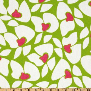 Premier Prints Helen Chartreuse/Candy Pink   Discount Designer Fabric
